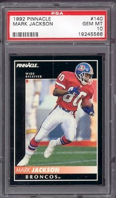 1992 Pinnacle #140 Mark Jackson Broncos PSA 10 pop 1 by Pinnacle. $6.00. 1992 Pinnacle #140 Mark Jackson Broncos PSA 10 pop 1. If multiple items appear in the image, the item you are purchasing is the one described in the title.