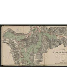 Karte der St. Gotthard-Bahn in drei Blättern. Rar_K_362