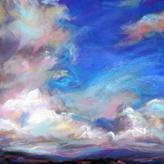 BURSTING, 4 1/2 X 4 1/2 pastel by Susan Roden, painting by artist Susan Roden