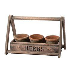 Herb Pots & Basket.