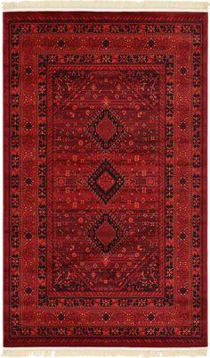 Red 5' x 8' Bokhara Rug | Area Rugs | eSaleRugs
