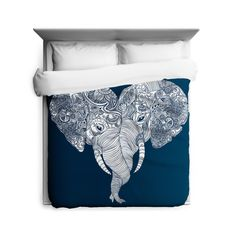 Punch Trunk Love Duvet Cover.  20% of each sale is donated to The African Wildlife Foundation. Save an elephant and get this duvet!