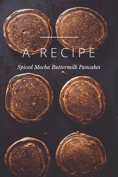 Spiced Mocha Buttermilk Pancakes. Tiffany Mitchell on Steller