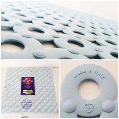 Sink Mat - Blue 32cm x 32cm Italian Quality Drainer Non Slip Protector FREE P&P