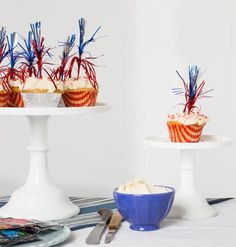 The secret ingredient (poprocks) makes these 4th of July cupcakes explosive. Get the easy how-to, and make them for your holiday BBQ!