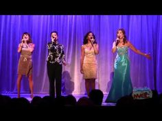 Disney Princess voices sing together at the 2011 D23 Expo  From left to right- Paige O'Hara (Belle), Lea Salonga (Mulan), Anika Noni Rose (Tiana) and Jodi Benson (Ariel)