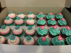 Baby Girl Pink Sparkle Cupcakes