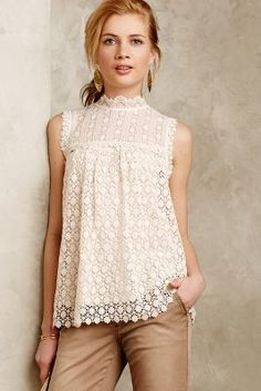 Lili's Closet Les Fleurs Lace Top #anthroregistry