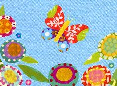 Butterfly in a Flower Garden by Vivian Larkins