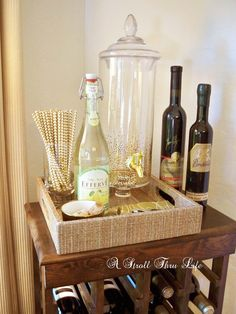 A Stroll Thru Life: Wine-Bar Cabinet-Breakfast Room Sneak Peak