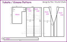 Yukata-Kimono Pattern by crystal-studio.deviantart.com on @deviantART