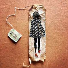 Artist Ruby Silvious Creates Visual Diary with Daily Miniature Paintings on Used Tea Bags. By Emma Taggart Used Tea Bags, Mini Paintings, Miniature Paintings, Tea Bag Art, Fall Chic, Colossal Art, T Art, Visual Diary, Watercolor Cards