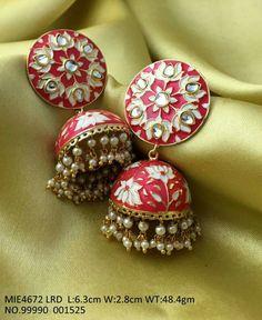 Indian Jewelry Earrings, Indian Jewelry Sets, Fancy Jewellery, Head Jewelry, Jewelry Design Earrings, Gold Earrings Designs, Indian Wedding Jewelry, Silver Jewelry, Fashion Jewellery