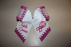Breast Cancer Awareness Sequin Dot Cheer Hair Bow