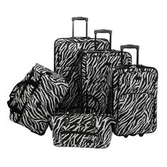 American Flyer 5-Piece Zebra Luggage Set 084420eca8400