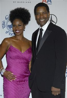Denzel and Pauletta Washington  For his entire career as a leading man, Denzel Washington has been married to the same woman