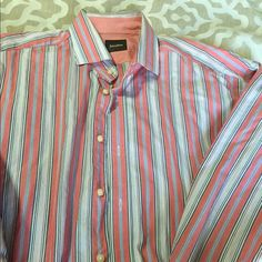 MENS Neimans button down shirt sz L MENS Neimans button down shirt sz L. Worn still in good condition. Neiman Marcus Tops Button Down Shirts