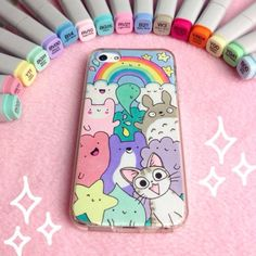 I phone case doodles Kawaii Drawings, Cute Drawings, Vexx Art, Kawaii Phone Case, Kawaii Diy, Copic Art, Kawaii Doodles, Marker Art, Copics