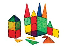 Magnetic Tiles Construction Set - 32 Pieces - Build It