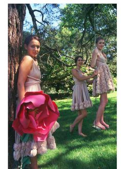 Bridesmaids in the garden Large Paper Flowers, Prom Dresses, Formal Dresses, Bridesmaids, Garden, Pretty, Pictures, Photography, Fashion