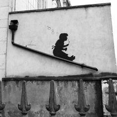 Banksy - Lower Clapton (B&W) by Banksy