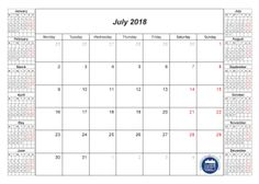print monthly calendar 2018