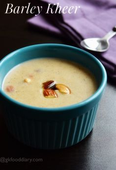 Barley kheer- Easy to make tasty and healthy dessert recipe for kids and toddlers with homemade barley flour. Indian Baby Food Recipes, Dessert Recipes For Kids, Healthy Breakfast Recipes, Indian Desserts, Healthy Recipes, Ragi Recipes, Cooking Recipes, Recipes With Barley Flour, Barley Recipes