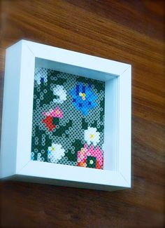 Hama beads flower picture by Madpolkadesign on Etsy