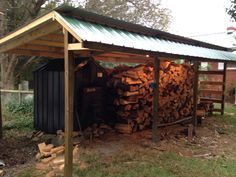 You want to build a outdoor firewood rack? Here is a some firewood storage and creative firewood rack ideas for outdoors. Lots of great building tutorials and DIY-friendly inspirations! Outdoor Wood Burner, Outdoor Wood Furnace, Outdoor Stove, Outdoor Firewood Rack, Firewood Shed, Firewood Storage, Lumber Storage, Backyard Pavilion, Backyard Buildings