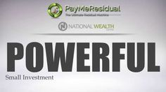 Proof that National Wealth Center works.. Change your life, meet your financial goals, and have more time to spend with family and friends, click..  http://bit.ly/1Xs8NWr