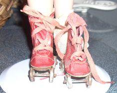 Restoring a stiff oilcloth doll shoe