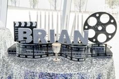 Movie, Hollywood Candle Lighting for Bar Mitzvah Party {Swank Productions, 5th Avenue Digital} - mazelmoments.com