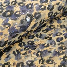 Blue Leopard Print Cork Fabric with silver flecks cm - Portuguese cork leather / Leopard Print Fabric, Cork Fabric, Cork Crafts, Handmade Bags, Leather Cord, Portuguese, Bag Making, Sewing Projects, Fancy