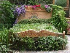 "Headboard and footboard flower bed ""awesome"""