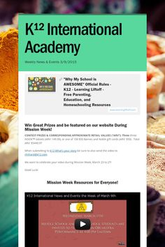 K¹² International Academy weekly News and Events