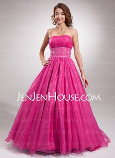Homecoming Dresses - $183.99 - A-Line/Princess Sweetheart Floor-Length Satin  Tulle Homecoming Dresses With Ruffle  Beading (022004640) http://jenjenhouse.com/A-line-Princess-Sweetheart-Floor-length-Satin-Tulle-Homecoming-Dresses-With-Ruffle-Beading-022004640-g4640
