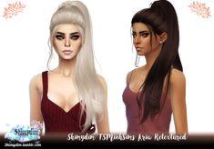 The Sims 4 TSMinhSims Aria Retexture - Naturals + Unnaturals Sims 4 Game Mods, Sims 4 Mods, Sims 4 Cc Folder, Mod Hair, Sims 4 Black Hair, The Sims 4 Cabelos, Pelo Sims, Sims 4 Gameplay, Cc Fashion