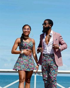 32 Chic Ways To Rock Ankara Fashion For Couples – Nigerian Wedding // Wedding inspiration website Couples African Outfits, African Clothing For Men, Couple Outfits, African Attire, African Wear Designs, African Design, African Style, Latest African Fashion Dresses, African Print Fashion