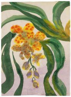EMIL NOLDE Orchidee (1925)