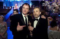 Waltz, tras ganar el Óscar por 'Malditos bastardos' junto a Tarantino.