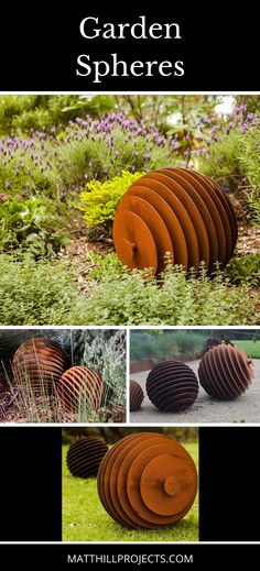 Garden art | Outdoor design | Garden sculptures | Outdoor metal art | Melbourne artist | Metal garden spheres | Landscape garden ideas | Garden designs | #gardenart #gardenideas