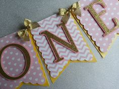 """Pink and Gold """"ONE"""" High Chair Banner, Pink and Gold High Chair Banner, """"ONE"""" Birthday Banner, First Birthday, Glitter Banner,Girl Birthday by SugaryDreamShoppe on Etsy https://www.etsy.com/listing/247554080/pink-and-gold-one-high-chair-banner-pink"""