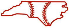 Free North Carolina outline with baseball stitches or softball stitches, cricut or Silhouette design, vector image, pattern, map shape cutting file North Carolina Outline, North Carolina Map, Map Outline, State Outline, Softball, Baseball, Silhouette Design, Make And Sell