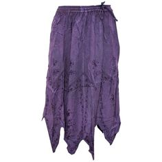 Mogul Women's Skirt Dark Purple Designer Embroidered Stonewashed Rayon... (1,695 INR) via Polyvore featuring skirts, purple skirt, bohemian skirt, bohemian style skirts, boho skirt and embroidered skirt
