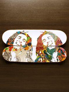 """Decoração - Quadro de Skate """"Natural Mystic"""" - @lojaonboard"""