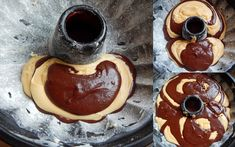 Pepi's kitchen: Κέικ μαρμπρέ Kakao, Chocolate Fondue, Pancakes, Pudding, Cookies, Breakfast, Desserts, Food, Crack Crackers