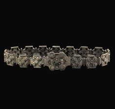 Southern Morocco | Belt; engraved silver with coloured glass beads | ca. late 19th century | 756 € ~ sold (May '11)