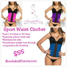 Wearing the Sport Waist Cincher during workouts creates compression in your core, stimulating thermal activity & ramping up perspiration. This process allows toxins and impurities to exit the skin, while mobilizing fat cells.