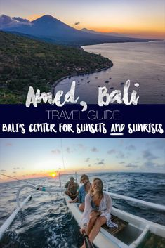 Amed Bali Travel Guide: Activities and things to do in Amed, best places to eat and stay, sunrises AND sunsets, and scuba diving, freediving, snorkeling, and beaches. #sunrise #sunset #amed #bali