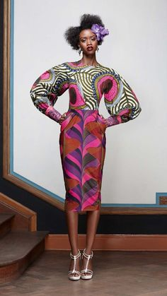 Colorful and creative Ghanaian fashion African Inspired Fashion, African Print Fashion, Africa Fashion, Ethnic Fashion, Fashion Prints, Fashion Design, African Prints, Fashion Styles, Ankara Fashion